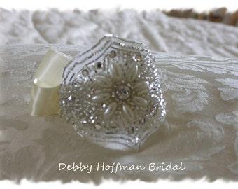 Pearl Rhinestone Crystal Bridal Cuff Bracelet, Pearl Wedding Bracelet, Bridal Party Bracelet, No. 3001CB,  Wedding Jewelry, Bridesmaid Gift
