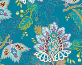 Exotic Flora Deep BA-300 - BAZAAR STYLE - Patricia Bravo for Art Gallery Fabrics - By the Yard
