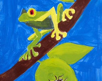 Red Eyed Tree Frog - Print