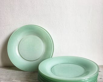 Set of 8 small plates Vintage pastel Duralex 1960