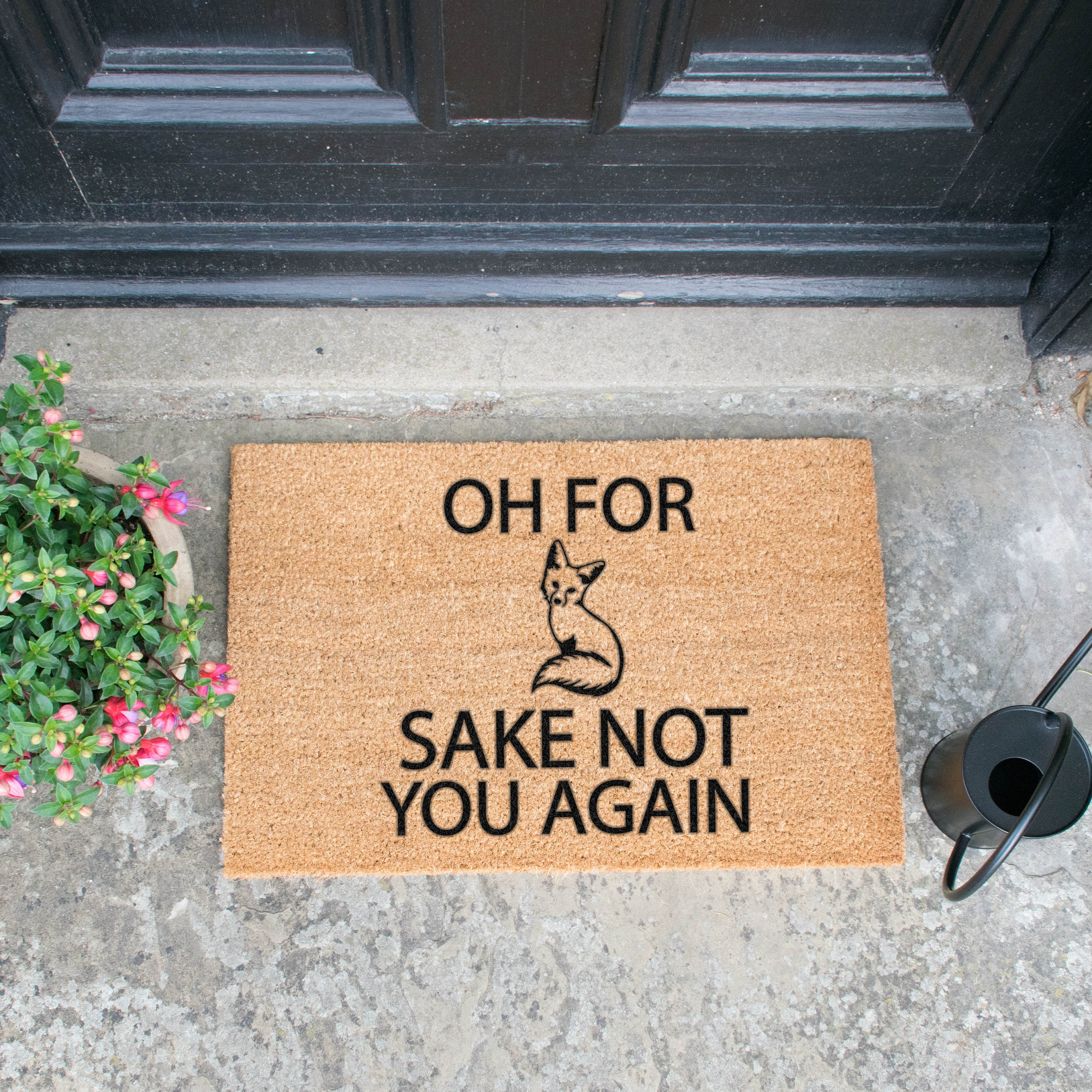 Oh For Fox Sake Not You Again Doormat 60x40cm Foxy Foxes