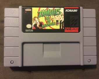 Zombies Ate My Neighbors Reproduction Super Nintendo SNES Game. 16 bit Works on Retron 5!