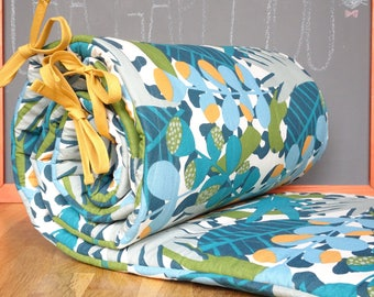Bumper baby for bed 60 x 120 tropical pattern
