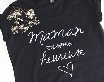 T-shirt or tank top surrounded MOM happy black
