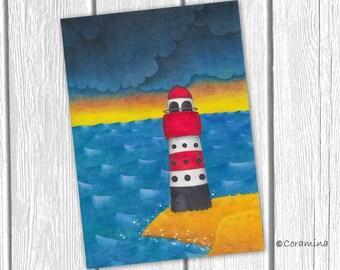 "Original illustration ""Leuchtturm """