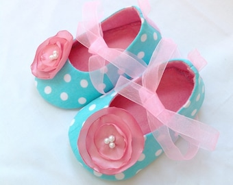 Baby Girl Shoes. Baby Booties. Teal Baby Shoes. Toddler Girl Shoes. Turquoise Baby Shoes. Baby Girl Ballet Shoes. Infant Girl Shoes.