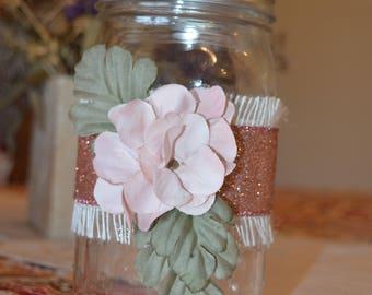 Light pink mason jar