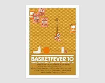 Print - Affiche Basketfever No10 - 50x70