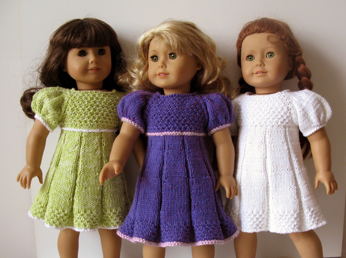 knitted American Girl 18 inch doll Pleated summer DRESS Knitting ...