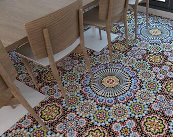 Vinyl floor - Flooring - Moorish Tiles - Floor Tiles - Tiles - Tile Stickers - Tile Decals - bathroom tiles - kitchen tiles 32 - SKU:MORPAFL