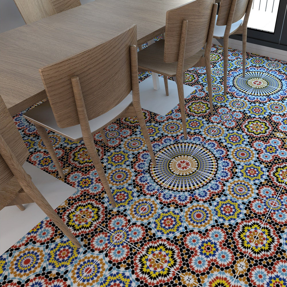 Vinyl floor flooring moorish tiles floor tiles tiles zoom dailygadgetfo Image collections