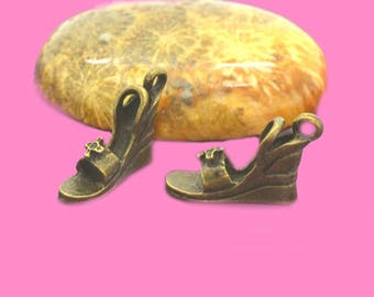 10 charms 16x13mm bronze platform shoes