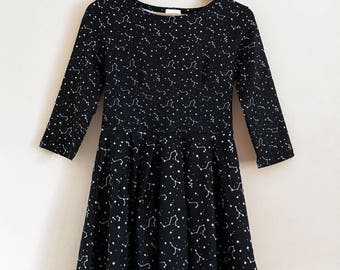 Starry Sky Constellation 3/4 Sleeve Fit and Flare Dress - Size S-3X