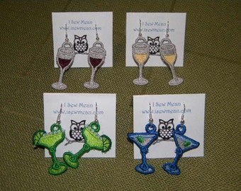 Pick Your Poison! Margarita, Martini, Red Wine or White Wine Earrings