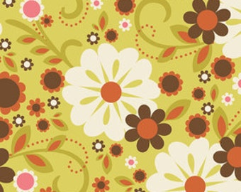 Indian Summer by Riley Blake, Main in Green - 1 Yard - Reduced