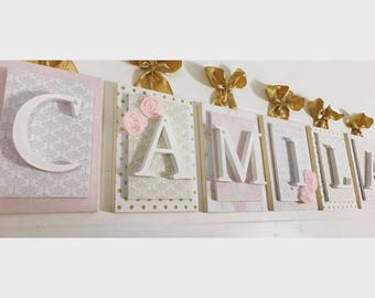 Baby Name, Hanging Name Sign, Baby Name Letters, Nursery Wall Decor, Nursery Wall Letters, Baby Name Sign, Decorative Wall Letters, Letters