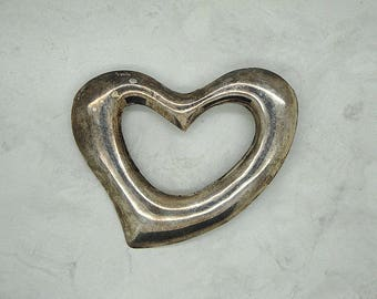 Vintage Mexico 925 Sterling Silver Heart Brooch, Valentines Gift, Vintage Brooch, Vintage Pin, Sterling Silver, 925 Silver