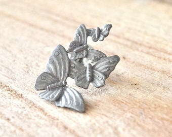 Vintage Butterfly Cluster Pin