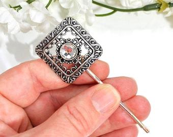 Silver Bobby Pin Warrior Hair Pin Renaissance Hair Clip Hair Accessory