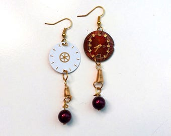 Steampunk Chic Watch Dial Earrings