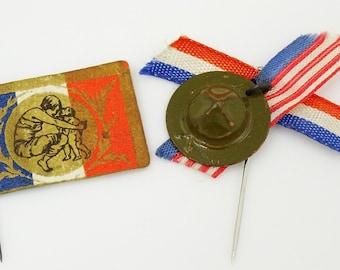 Vintage French Military Pins Journee de l'Orphelinat des Armées Army Orphanages