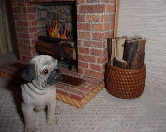 1:6 Fireplace Logs,  for Blythe, Barbie, Silkstone Barbie, Fashion Royalty