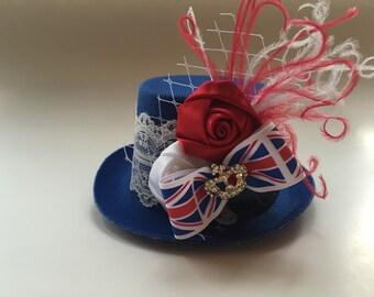 Union Jack Hat Fascinator, Baby Girls Headbands And Hairbows, Tea Party Hat Headbands Bridal Shower, Smash Cake Headbands, Half Birthday