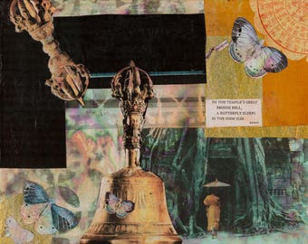 On the Temple's Great Bronze Bell (Haiku Series) - Limited Edition Giclée Print