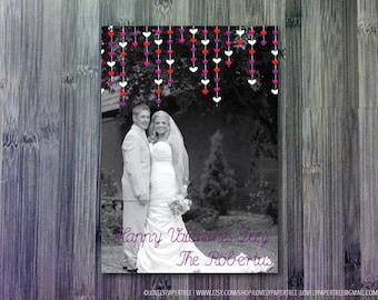 Hanging Hearts Photo Card | HC_VAL5