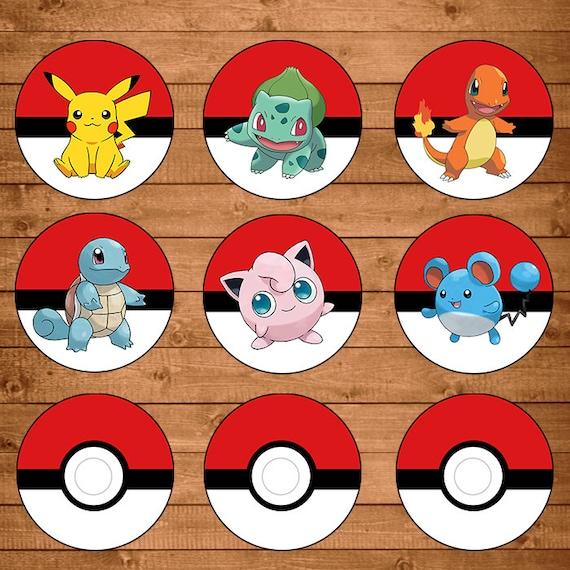 Juicy image pertaining to pokemon cupcake toppers printable