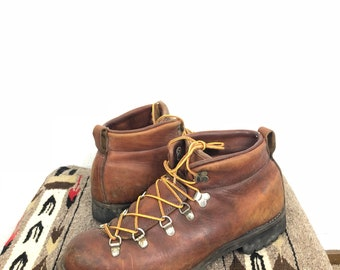 vintage danner leather hiking walking boots made in usa size 10 1/2 made in usa