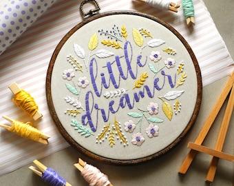"8"" Nursery Embroidery Hoop, Nursery Decor Grey, Nursery Wall Hanging, Baby Embroidery Decor, Baby Decor Nursery Art, Embroidery Wall Art"