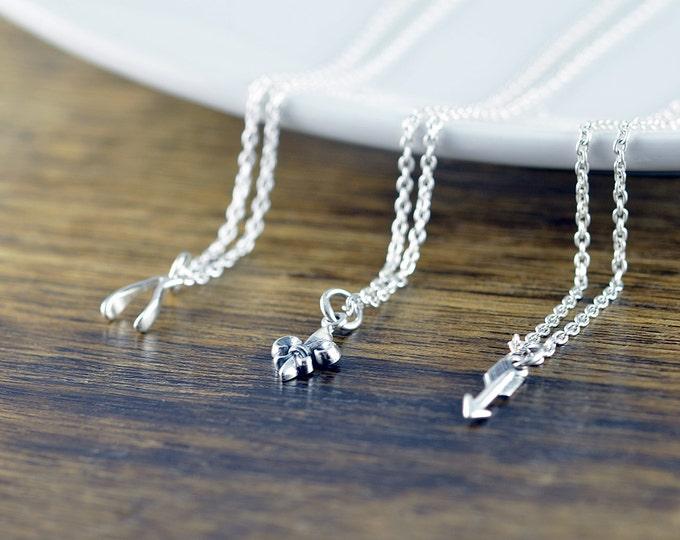 charm necklace - multi charm necklace -  tiny charm necklace - everyday necklace - tiny fleur de lis -  tiny arrow necklace -  tiny wishbone