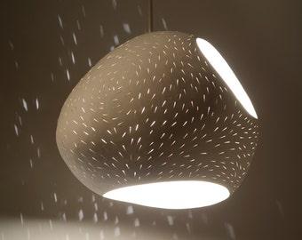 """Pendant Lamp: 13"""" Claylight Pendant Double Cut"""