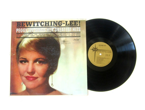 Peggy Lee Sings Her Greatest Hits Bewitching Lee Vinyl Record Album 12 Inch LP Vintage Music Capital Record Album