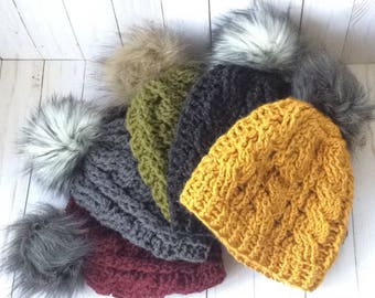 Faux Fur Pom Hat - Made-to-Order