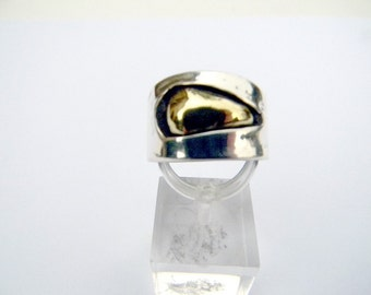 ring, contemporary ring, sensual sterling silver, brass