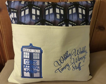 Dr Who Reading Buddy Pillow 18 x 18 inches PILLOW CASE ONLY