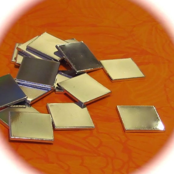 """10- 1"""" Square Heavy  Weight 14 Gauge Pure Aluminum Tumbled - QTY 10"""