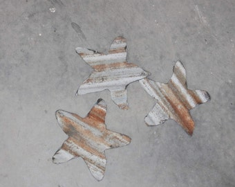 3 Roofing Tin Stars 6 inch by junkfx
