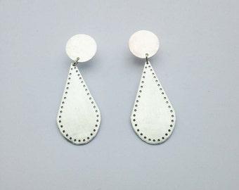 Silver Pedant Earrings