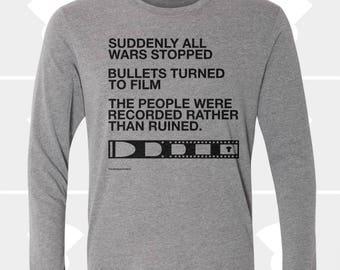 Film v. Bullet - Unisex Long Sleeve Shirt