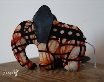 Ndovu-fabric-Elephant from African Waxprint