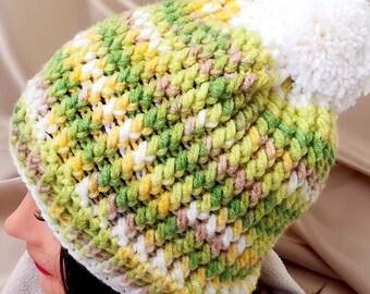 CROCHET PATTERN - Double Twist hat crochet pattern - Winter hat crochet pattern - Pattern No. 232