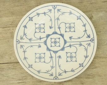 Vintage 60s-70s Winterling Western Germany Blue and White Plate/Farmhouse/Shabby Chic