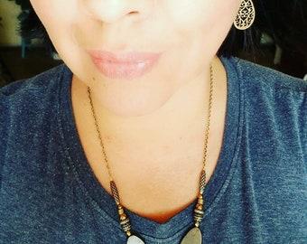 Pyrite Labradorite & Hematite Necklace