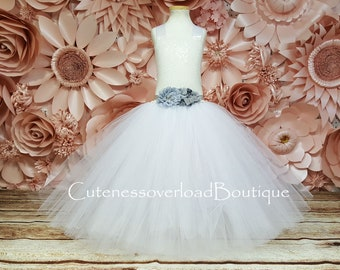 White Bride Tutu-White Flower Girl Tutu Dress-White Sequin Dress-White Tutu-Flower Girl Dress-White Girl Tutu-White Wedding Tutu-White Dress