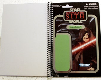 Darth Sidious Recycled Vintage Style Star Wars ROTS Notebook/Journal