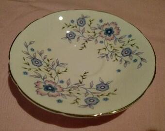 Avon Blue Blossoms Saucer