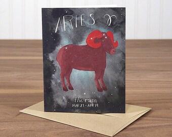 Aries - blank notecard